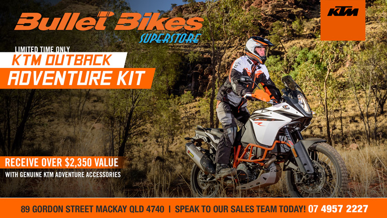 FREE OUTBACK KIT WITH SELECTED ADVENTURE MODELS